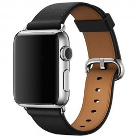 Äkta Läderarmband Apple Watch 42/44mm Svart - Techhuset.se