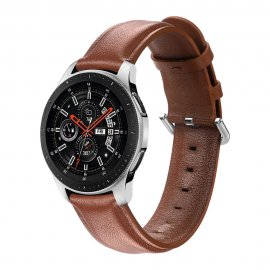 Äkta Läderarmband Samsung Galaxy Watch 46mm Brun - Techhuset.se
