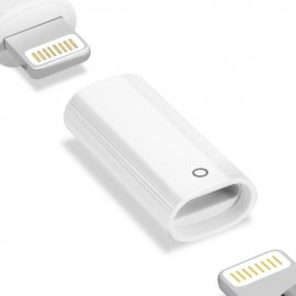 Apple Pencil Lightning Laddnings Adapter Vit - Techhuset.se