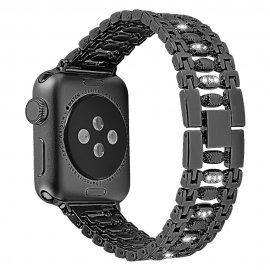 Crystal Bracelet Apple Watch 42/44mm Black - Techhuset.se
