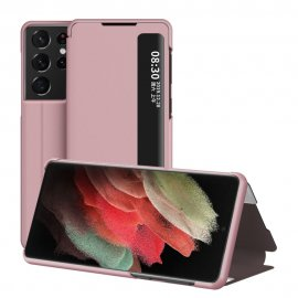 Flip Fodral Med Display Samsung Galaxy S21 Ultra Rosa - Techhuset.se