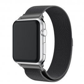 Milanese Loop Armband Apple Watch 38/40mm Svart - Techhuset.se