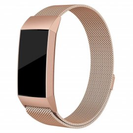 Techhuset Milanese Loop Armband Fitbit Charge 3/4 Rose Guld Bild 1