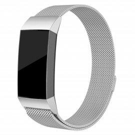 Techhuset Milanese Loop Armband Fitbit Charge 3/4 Silver Bild 1