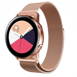 Milanese Loop Armband Samsung Galaxy Watch Active Rose Guld - Techhuset.se