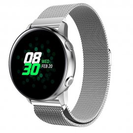 Milanese Loop Armband Samsung Galaxy Watch Active Silver - Techhuset.se