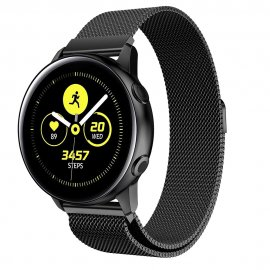 Milanese Loop Armband Samsung Galaxy Watch Active Svart - Techhuset.se