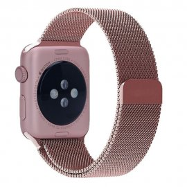 Milanese Loop Metallarmband Apple Watch 42/44mm Rosa - Techhuset.se
