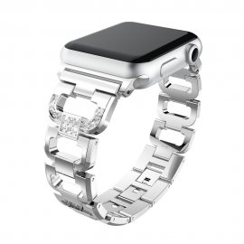 Rhinestone Metallarmband Apple Watch 38/40mm Silver - Techhuset.se