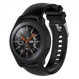 Techhuset Silikonskal Till Samsung Galaxy Watch 46mm/Gear S3 Frontier Svart bild 1
