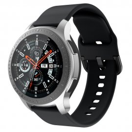Techhuset Soft Silikonarmband Samsung Galaxy Watch 46mm Svart Bild 1