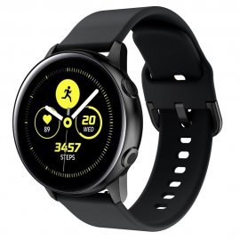 Soft Silikonarmband Samsung Galaxy Watch Active Svart - Techhuset.se