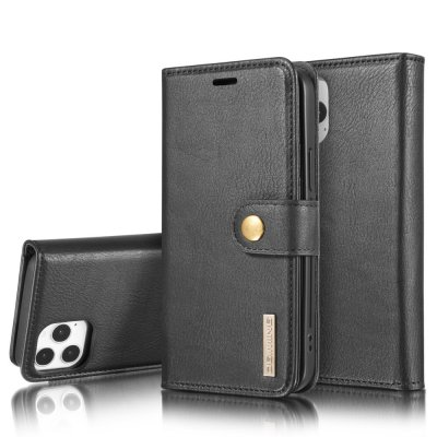 DG.MING 2-in-1 Magnet Wallet iPhone 12/12 Pro Black - Techhuset.se