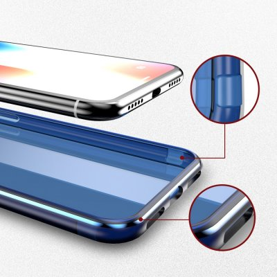 Dux Ducis Light Clear TPU Skal iPhone X/XS Blå bild 3