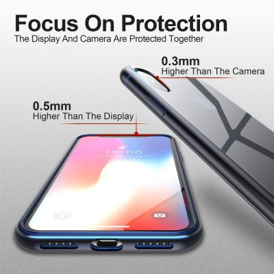 Dux Ducis Light Clear TPU Skal iPhone X/XS Blå bild 6