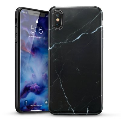 ESR Slim Soft Skal iPhone X/XS Marmor Svart bild 1