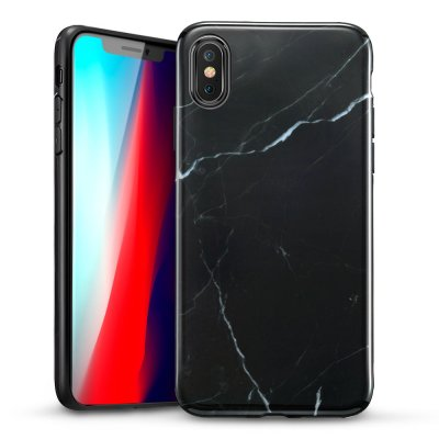 ESR Slim Soft Skal iPhone XS Max Marmor Svart bild 1