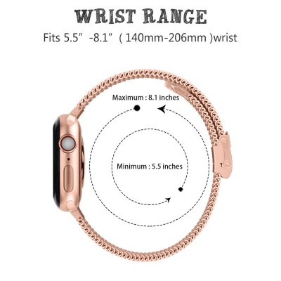 Techhuset Armband Milanese Mesh Apple Watch 42mm Rose Guld Bild 3