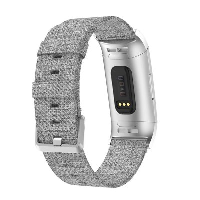 Canvasarmband Fitbit Charge 3/4 Grå - Techhuset.se