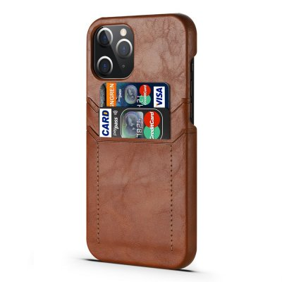 Card Slot Case iPhone 12 Pro Max Brown - Techhuset.se