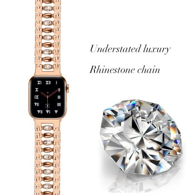 Crystal Bracelet Apple Watch 42/44mm Rose Gold - Techhuset.se