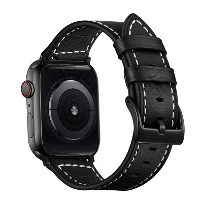 Klassiskt Läderarmband Apple Watch 42/44mm Svart - Techhuset.se