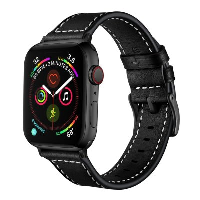 Techhuset Klassiskt Läderarmband Apple Watch 42mm/44mm Svart bild 2