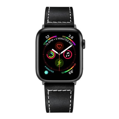 Techhuset Klassiskt Läderarmband Apple Watch 42mm/44mm Svart bild 3