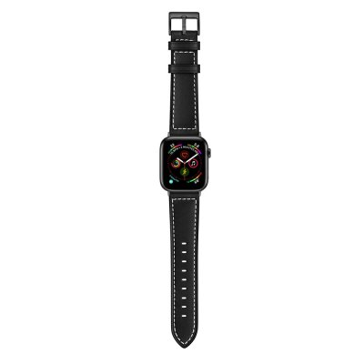 Techhuset Klassiskt Läderarmband Apple Watch 42mm/44mm Svart bild 5