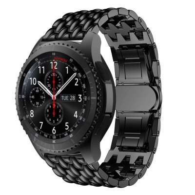 Techhuset Metallarmband i Fjärilspänne Samsung Galaxy Watch 46mm Svart bild 1