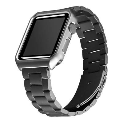 Metallarmband Med Skal Apple Watch 38/40mm Svart - Techhuset.se