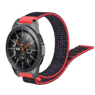 Nylonarmband Samsung Galaxy Watch 46mm Svart/Röd - Techhuset.se