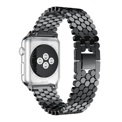 Polygon Metallarmband Apple Watch 42mm Svart - Techhuset.se