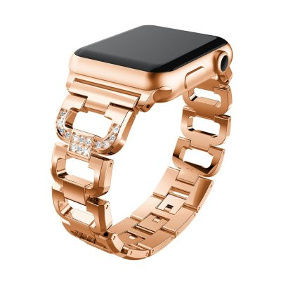 Rhinestone Metallarmband Apple Watch 38/40mm Rose Guld - Techhuset.se