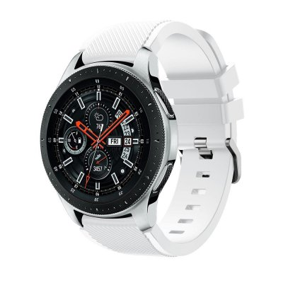 Techhuset Silikonarmband Samsung Galaxy Watch 46mm Vit Bild 1