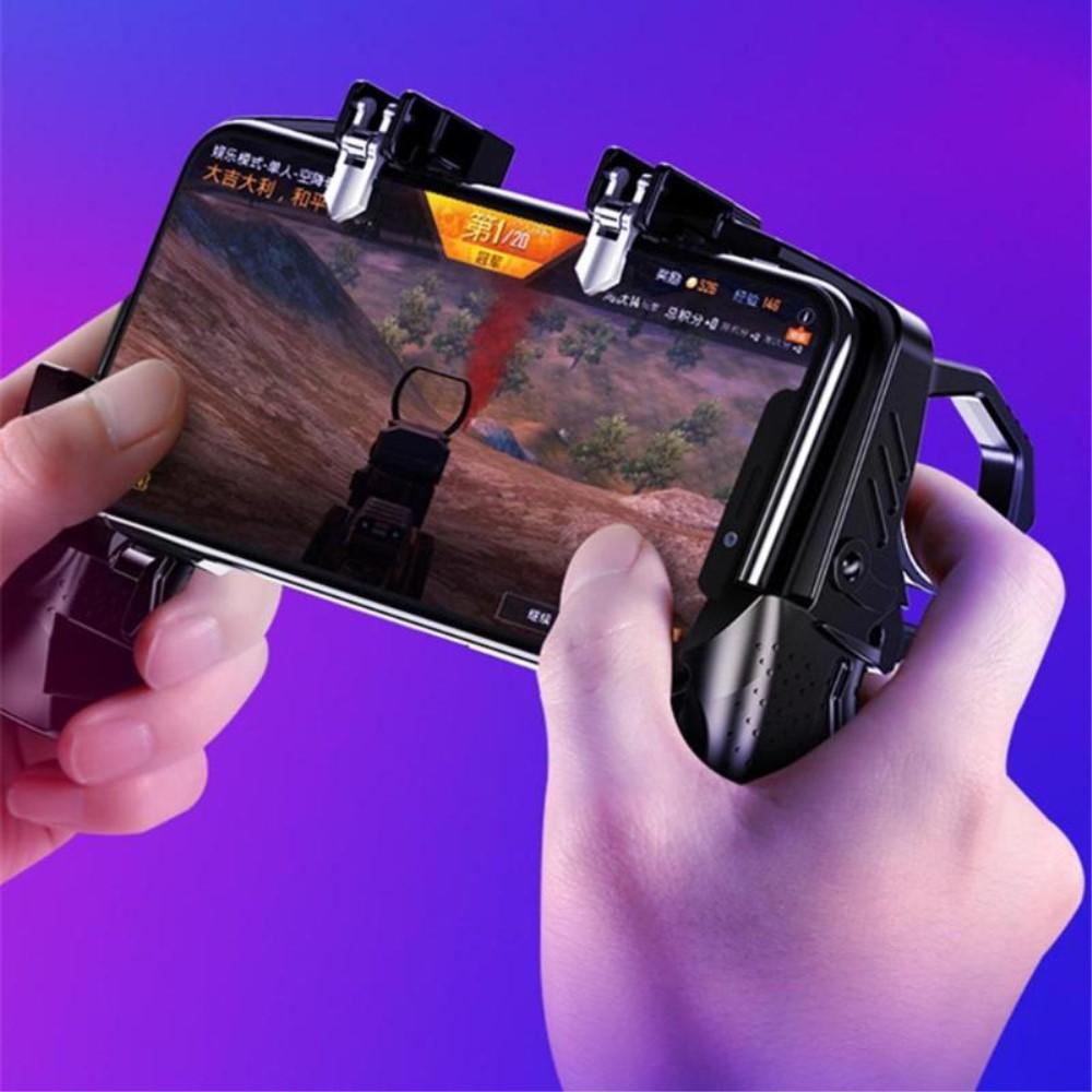 Ergonomisch Designte Handgriffhalterung f/ür Fortnite//PUBG Mobile//Knives Out//Rules of Survival 1Pair+1Gamepad Keten Mobile Game Controller Kit Sensitive Schie/ß- und Ziel-Trigger Kn/öpfe L1R1